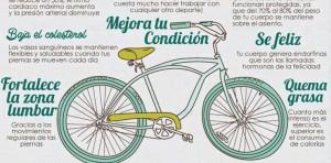 ¿Conocías todos estos beneficios de andar en bicicleta?