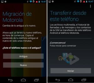 Migración Motorola te ayuda a pasar la información del teléfono viejo al nuevo