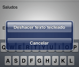 Borrar un texto de Whatsapp agitando el iPhone