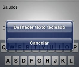 Borrar un texto de Whatsapp agitando el iPhone