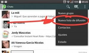 Enviar un mensaje de difusión en WhatsApp