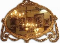 Limpiar marcos de espejos dorados