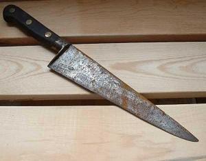 Limpiar cuchillos oxidados