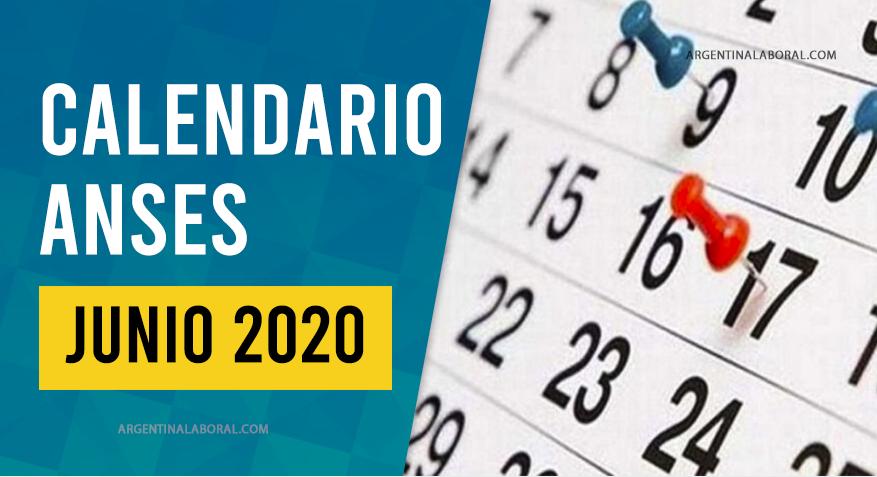 Calendario ANSES Junio 2020