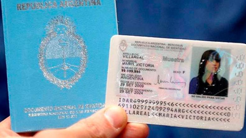 Pasaporte o DNI mal hecho