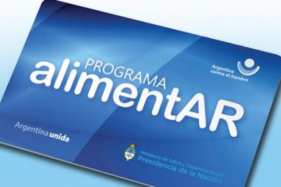 Tarjeta Alimentar Argentina contra el Hambre