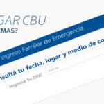 Hasta cuando puedo informar CBU para cobrar IFE